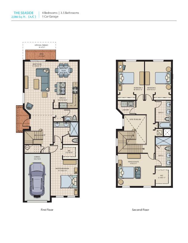 Seaside: Floor Plan