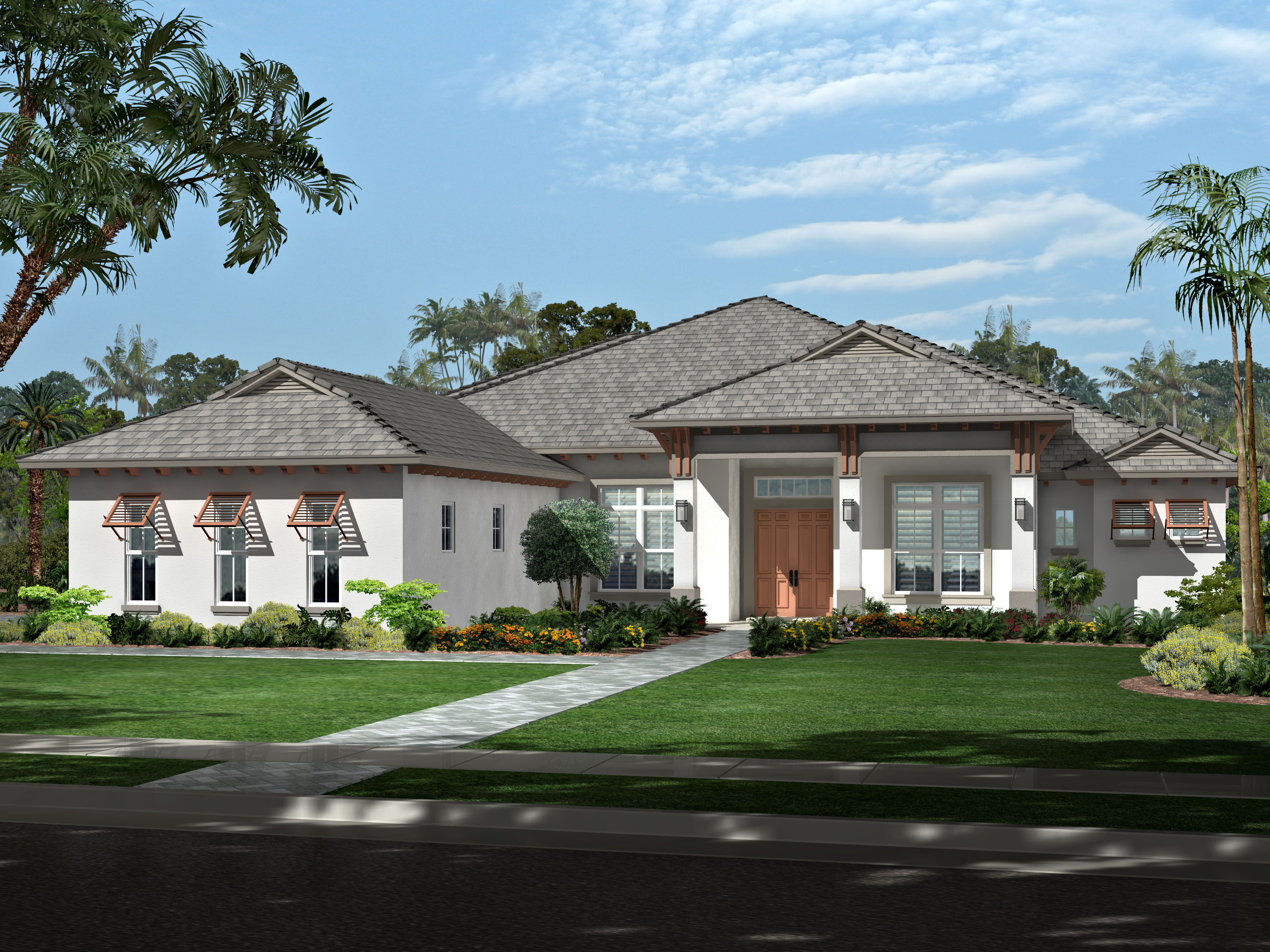 Angela Model: 4 bedrooms, 4 1/2 baths, Library
