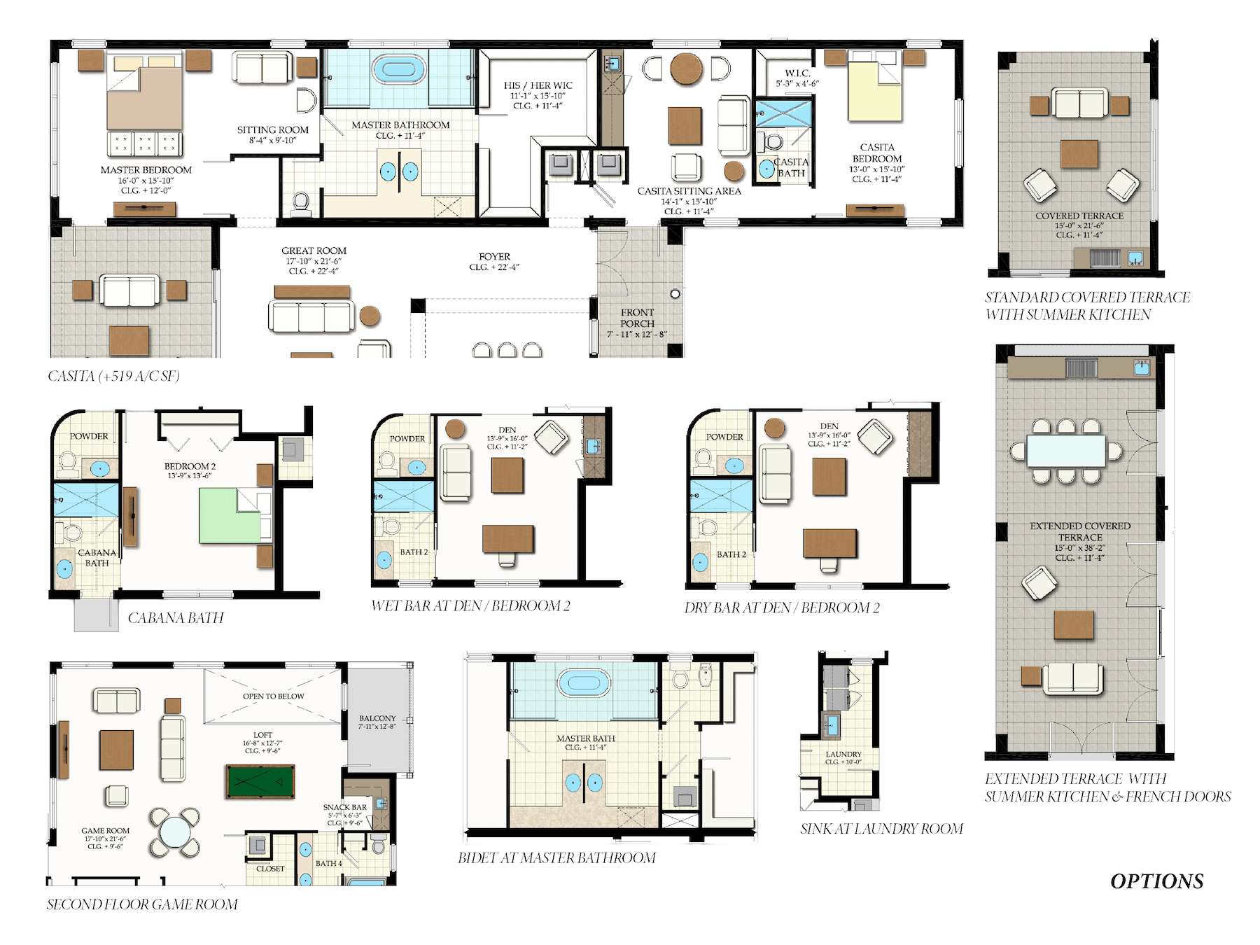 Nouvelle Options: Additional options to customize floor plan