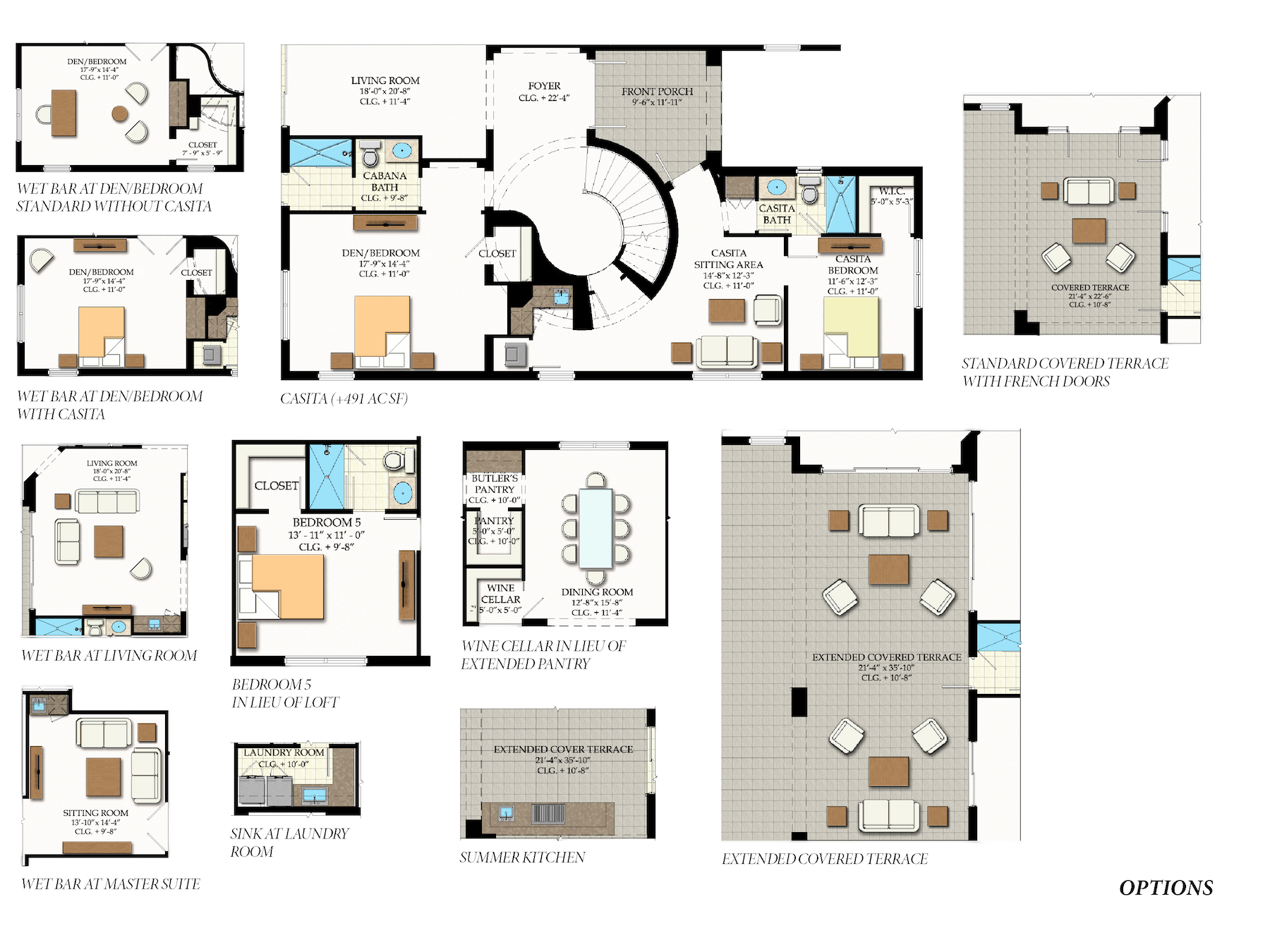 Orleans Options: Additional options to customize floor plan