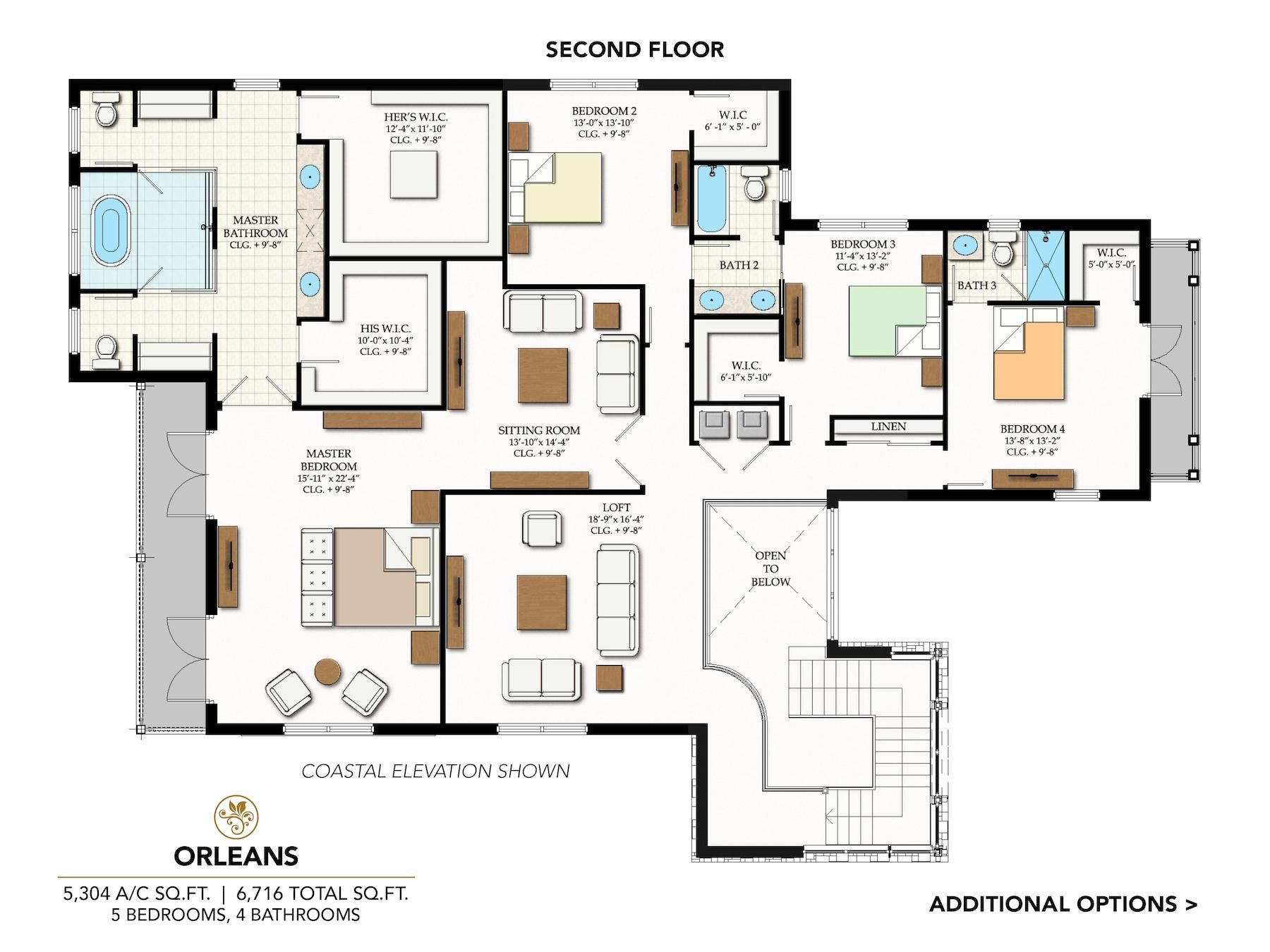 Orleans at Cascata: First Floor