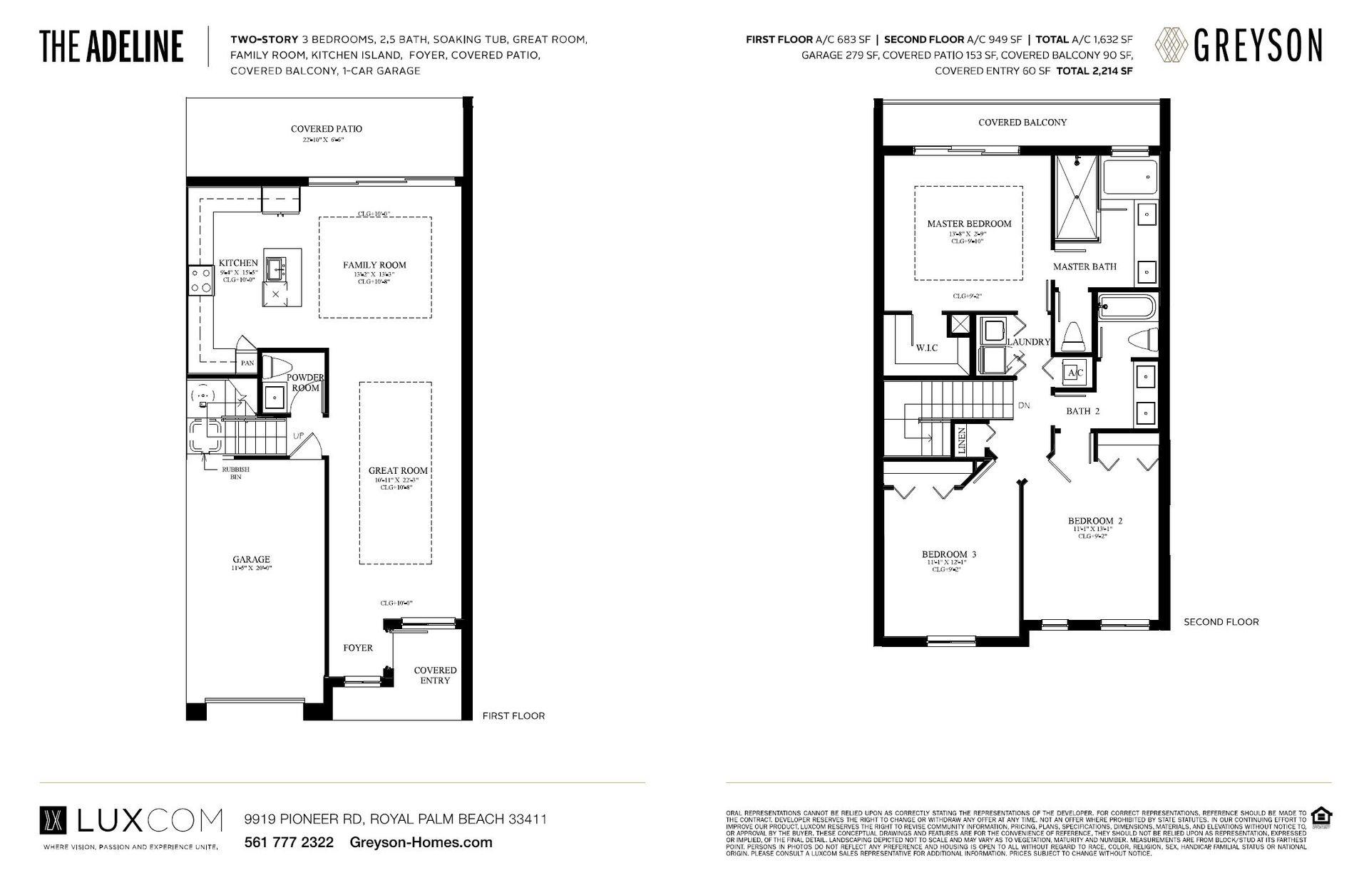 The Adeline: First Floor & Second Floor