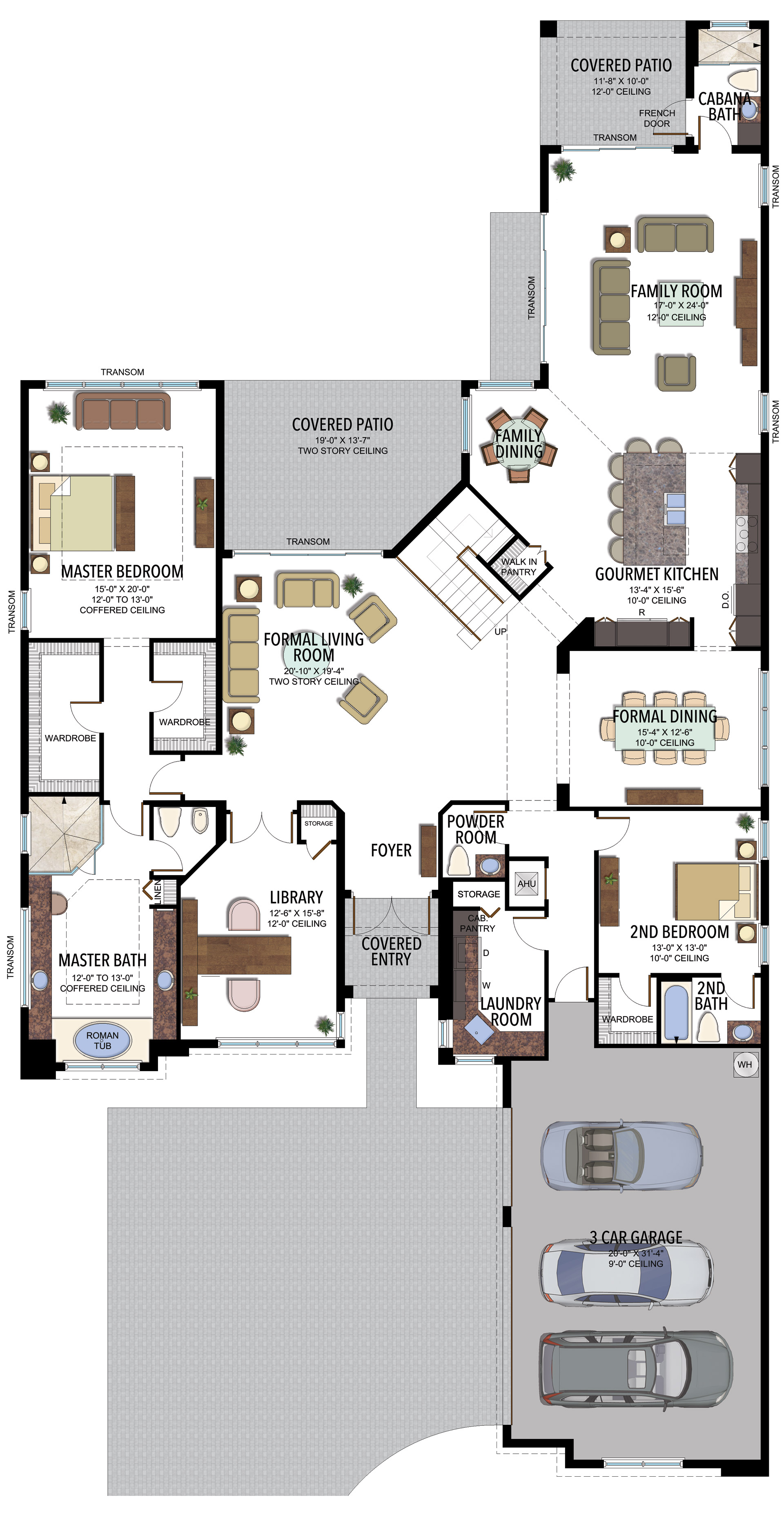 BB Colonnade Grande Contemporary 756C F1 Floorplan