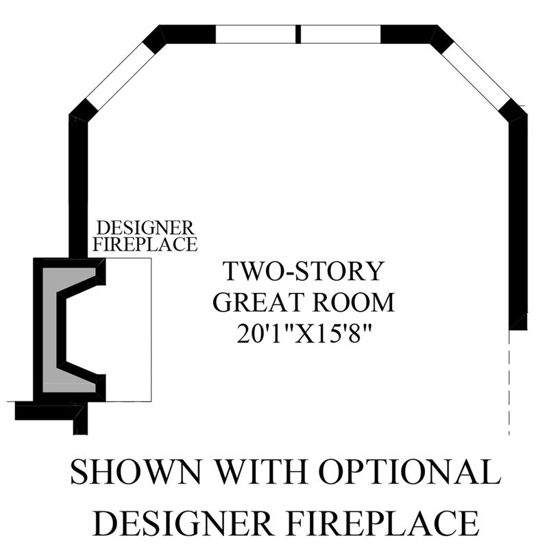 Floorplan Image: Optional Designer Fireplace