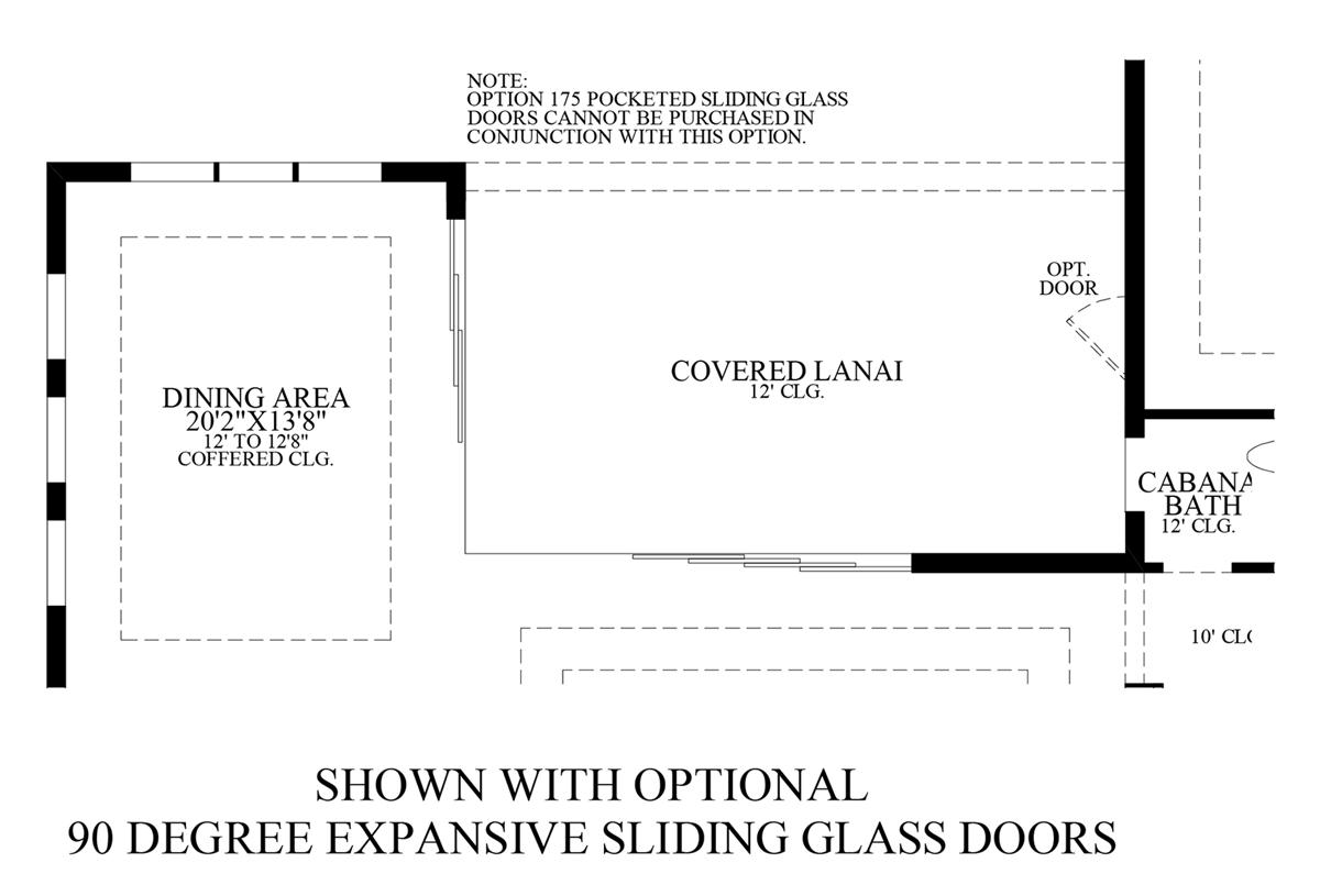 Floorplan Image: Optional 90 Degree Expansive Sliding Glass Doors
