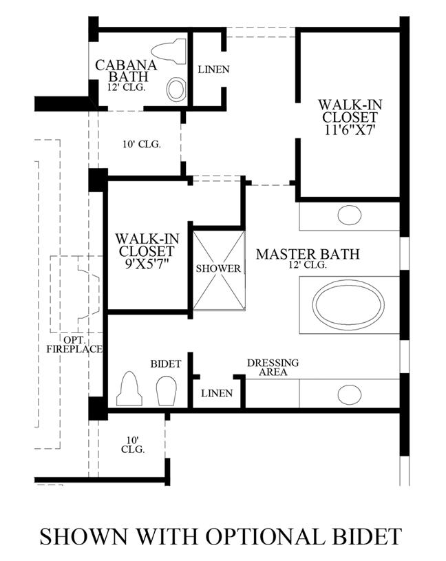 Floorplan Image: Optional Bidet