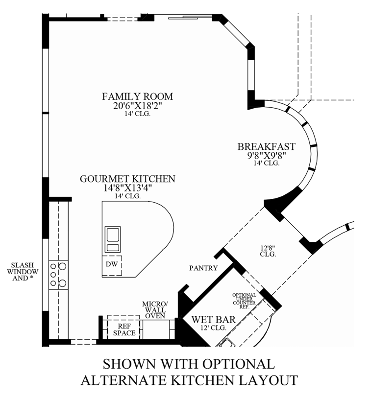 Floorplan Image: Optional Alternate Kitchen Layout