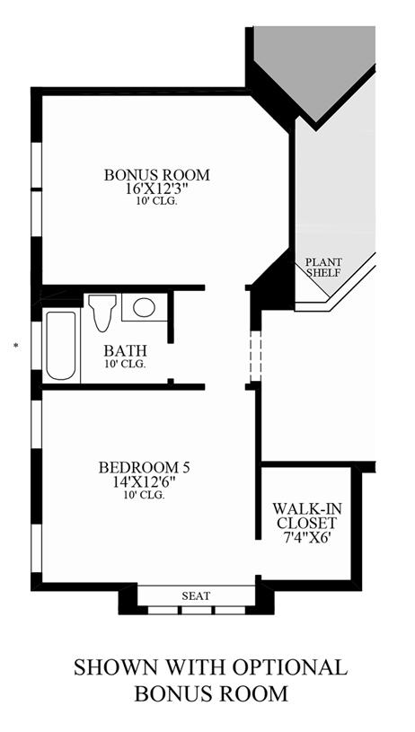 Floorplan Image: Optional Bonus Room