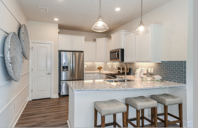 Serenity: Kitchen with Island for Meal Planning at Home or Entertaining with Friends