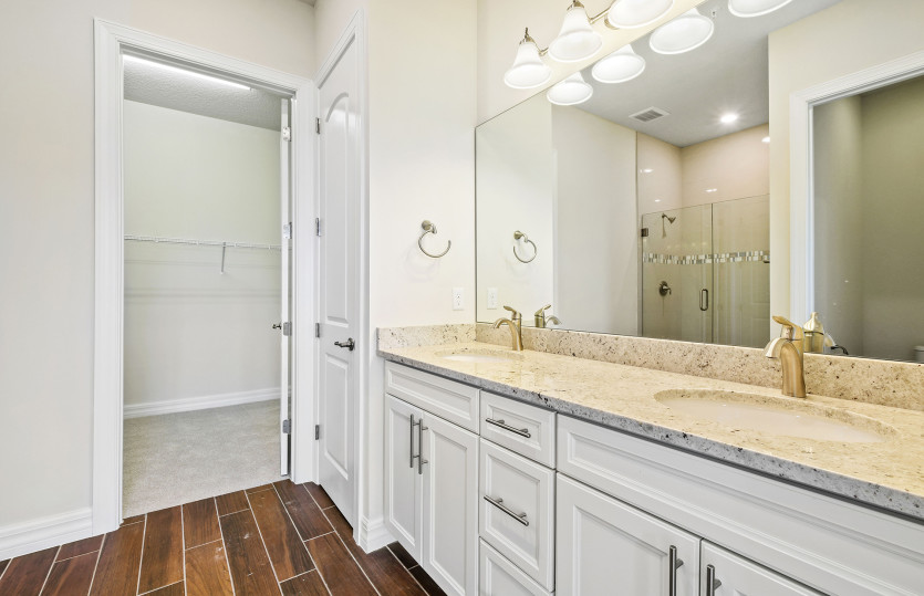 Owner's Bathroom with Dual Vanities