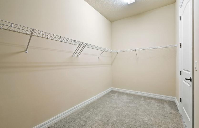 Large Walk-In Closet in Owner's Suite