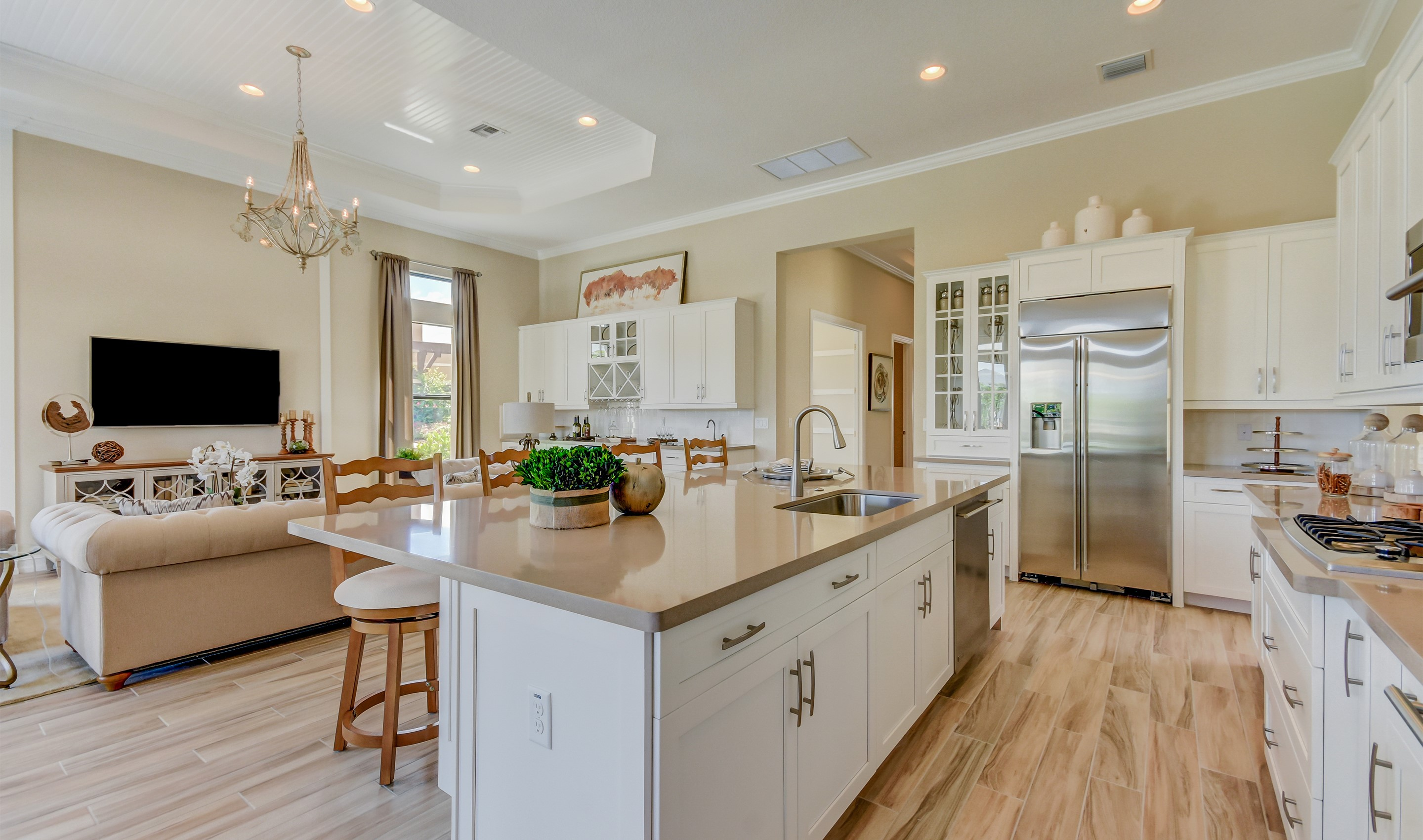 Open kitchen and great room