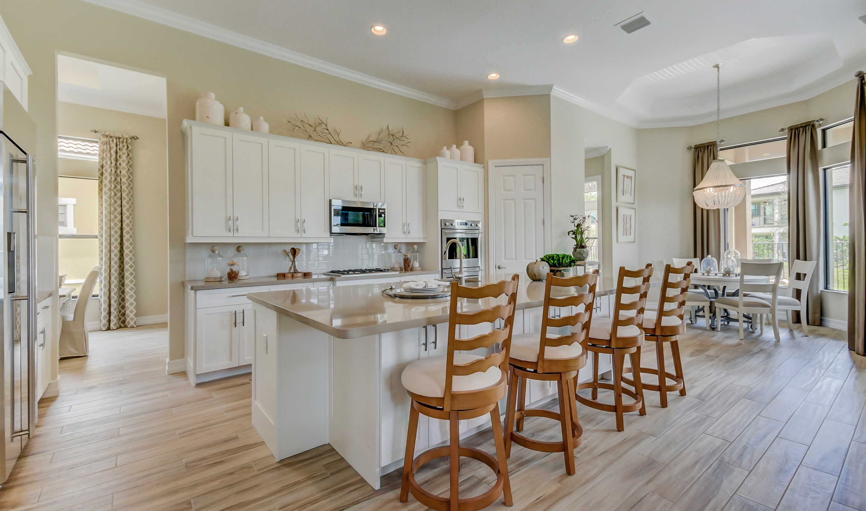 Kitchen with cozy dining area