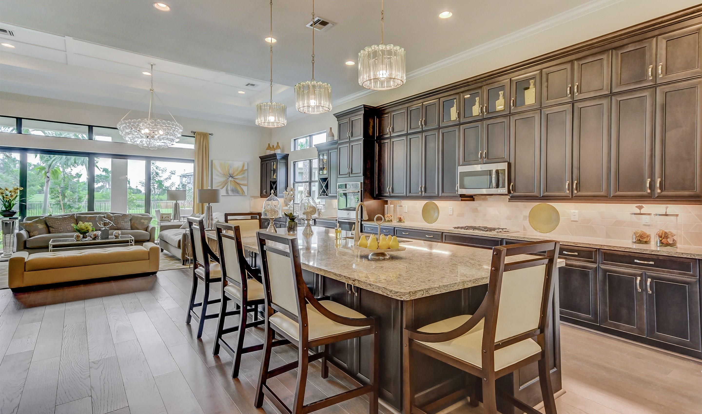 Expansive island in kitchen