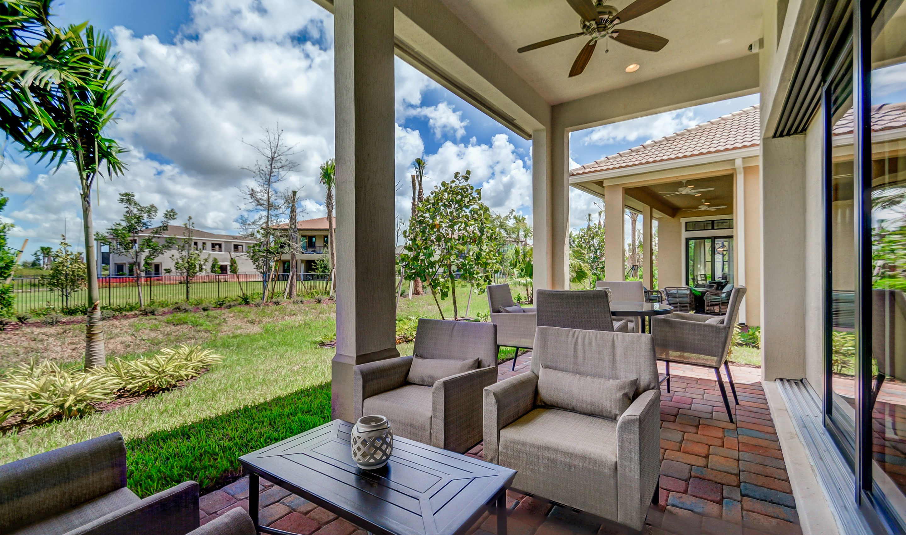 Covered lanai for relaxing outdoors