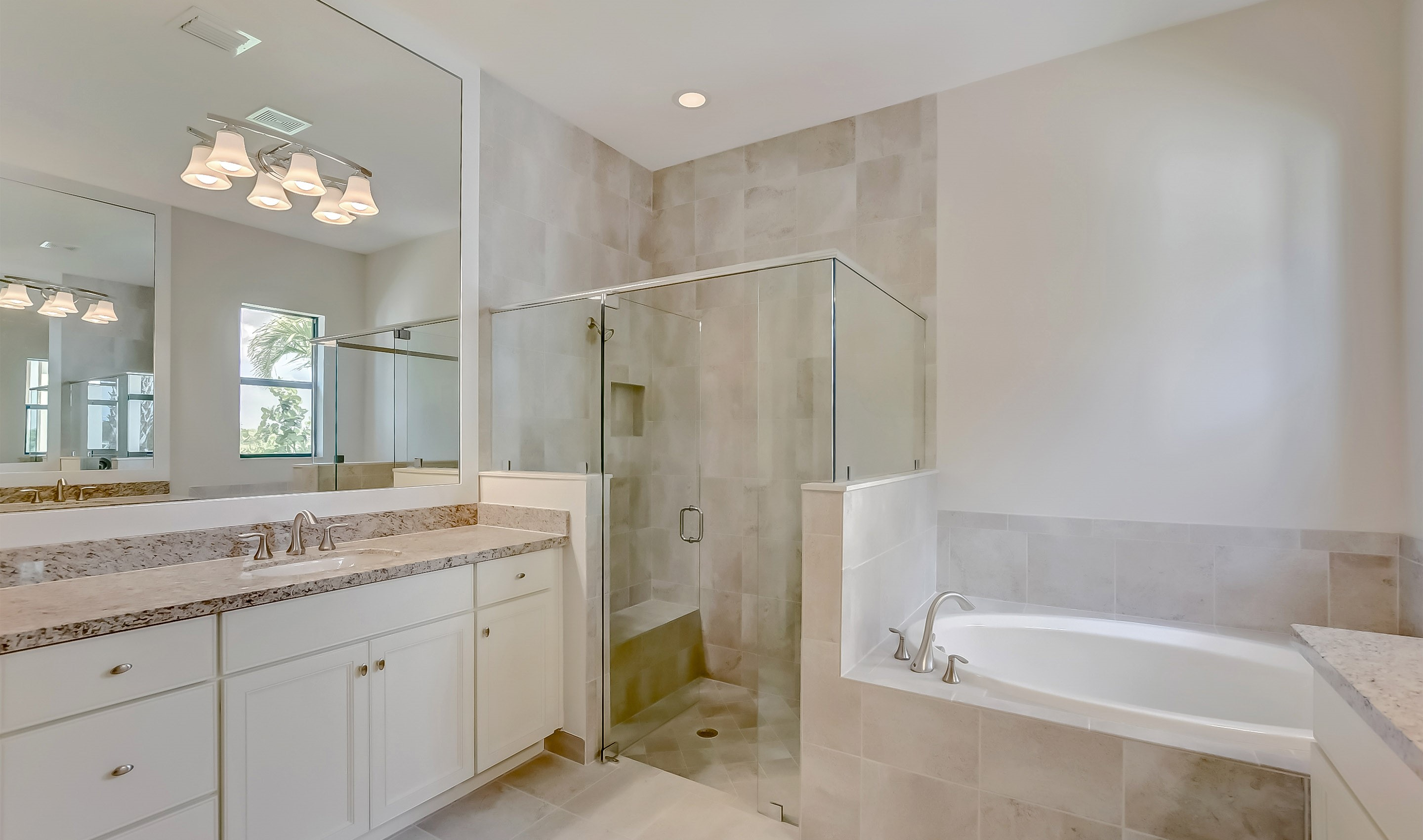 Large shower in owner's bath