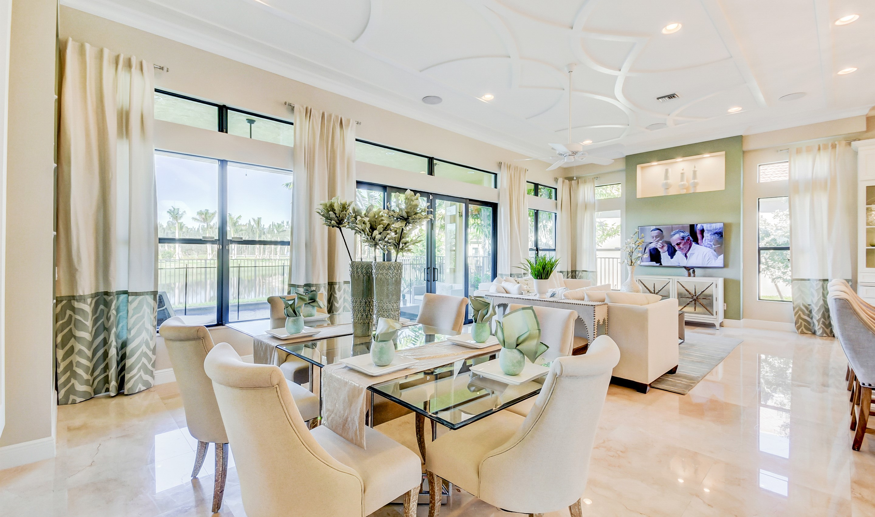 Open dining room & great room