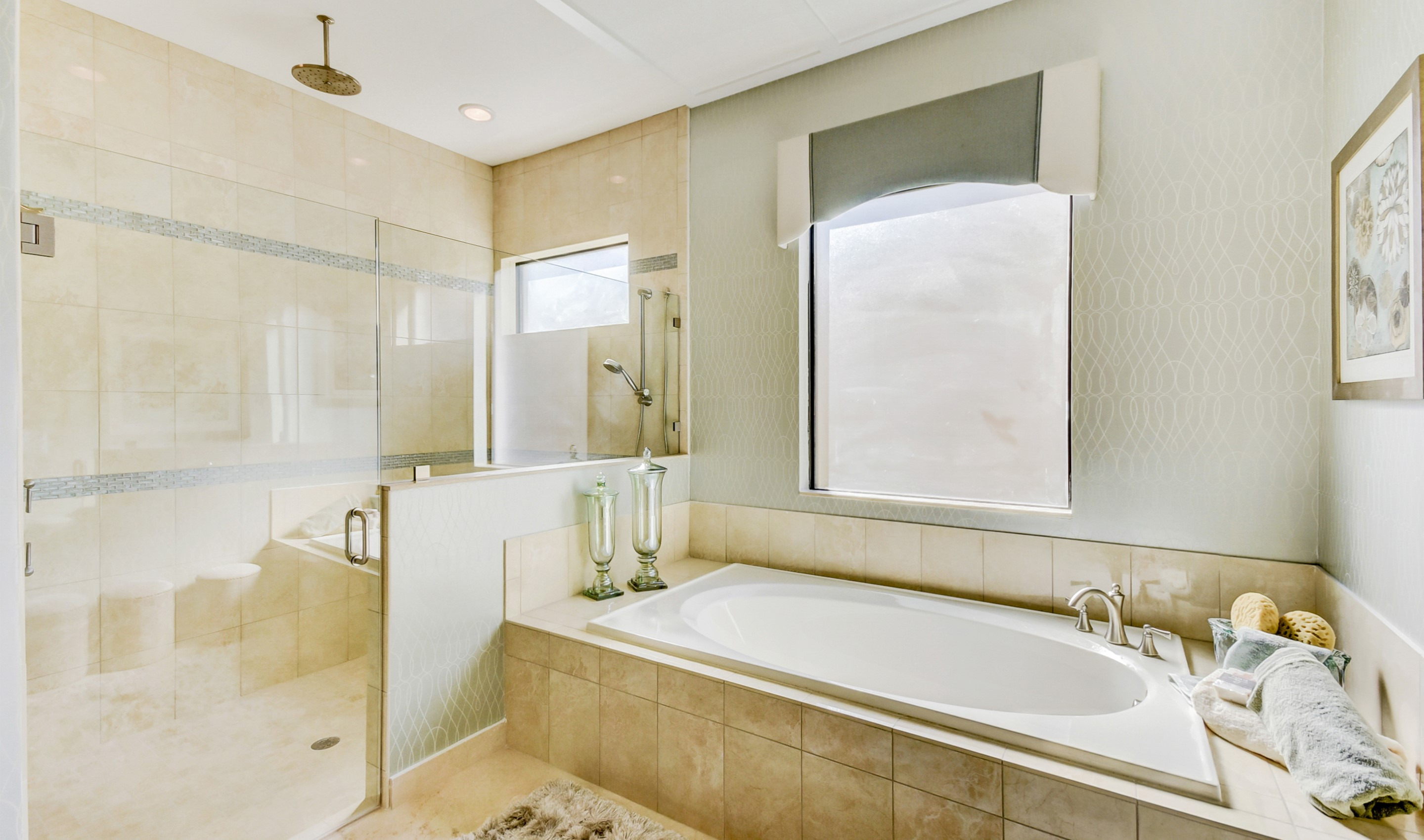 Fabulous soaker tub and shower
