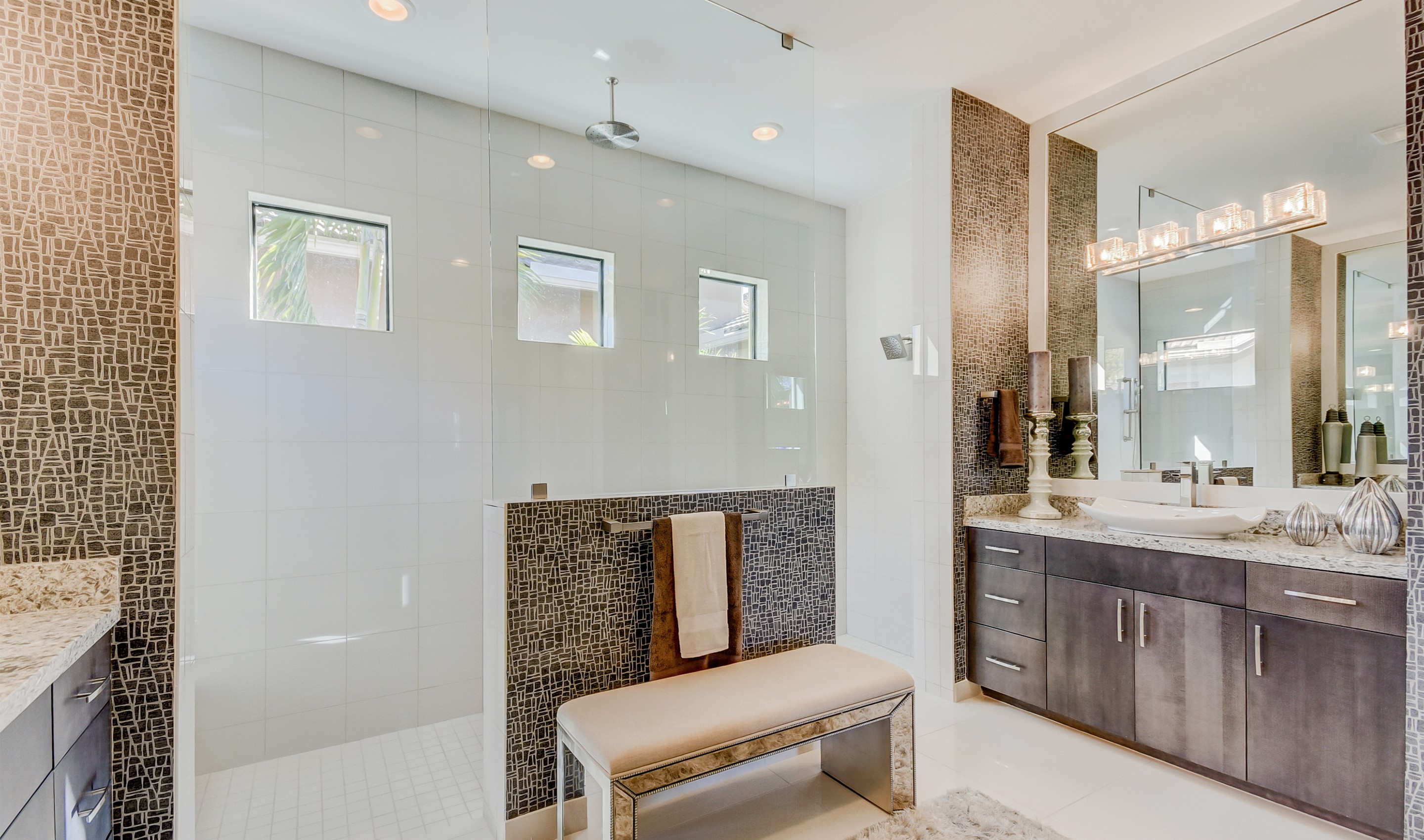 Owner's bath with large shower