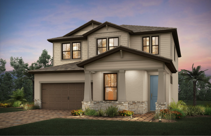 Park Place: The Park Place, a two-story family home with a 2 car garage, shown with Home Exterior C2D