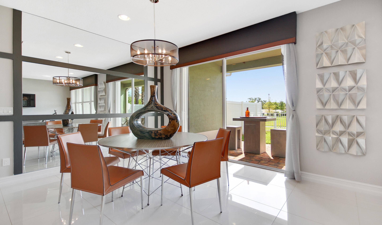 Sun-lit dining room