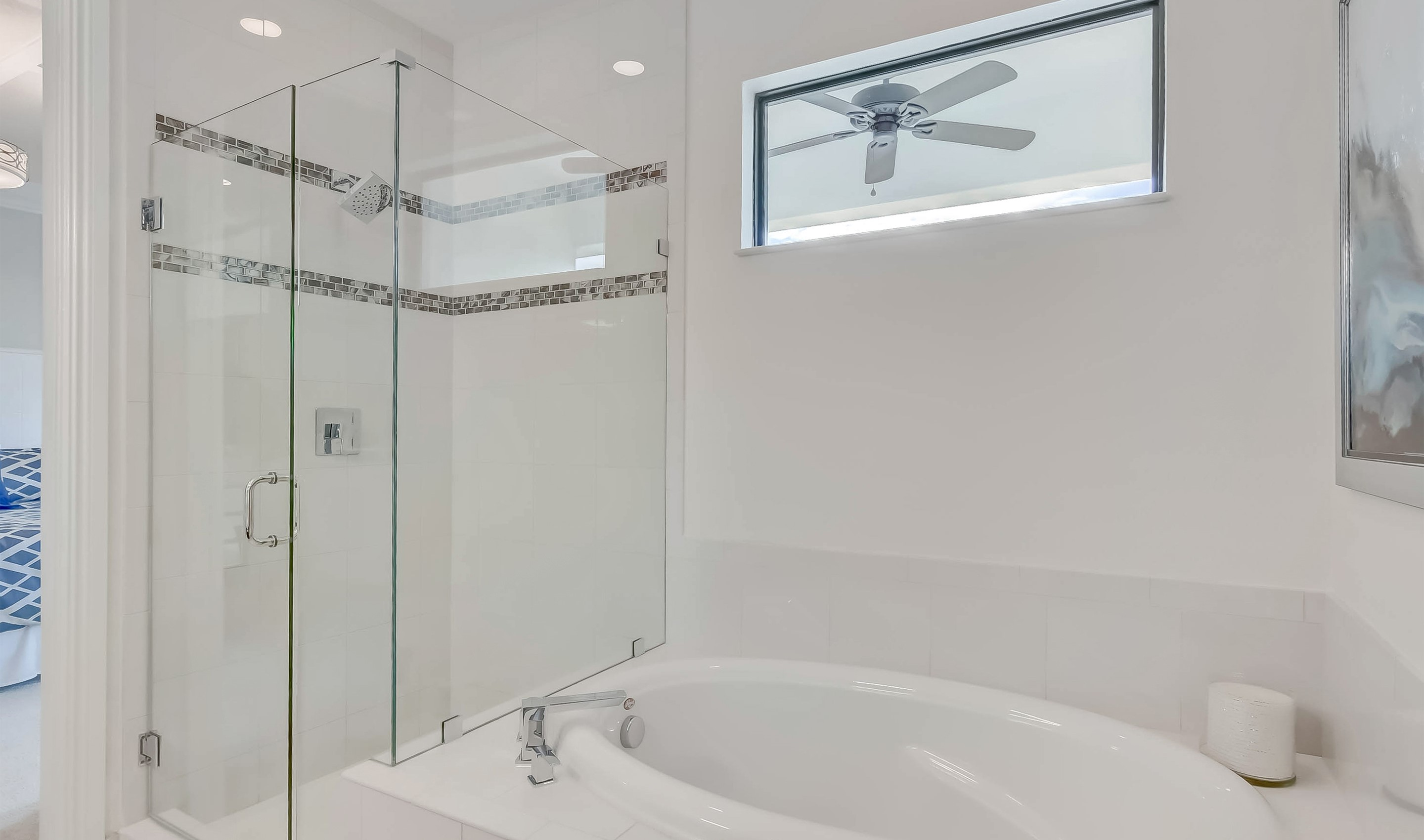 Owner's bath tub and shower