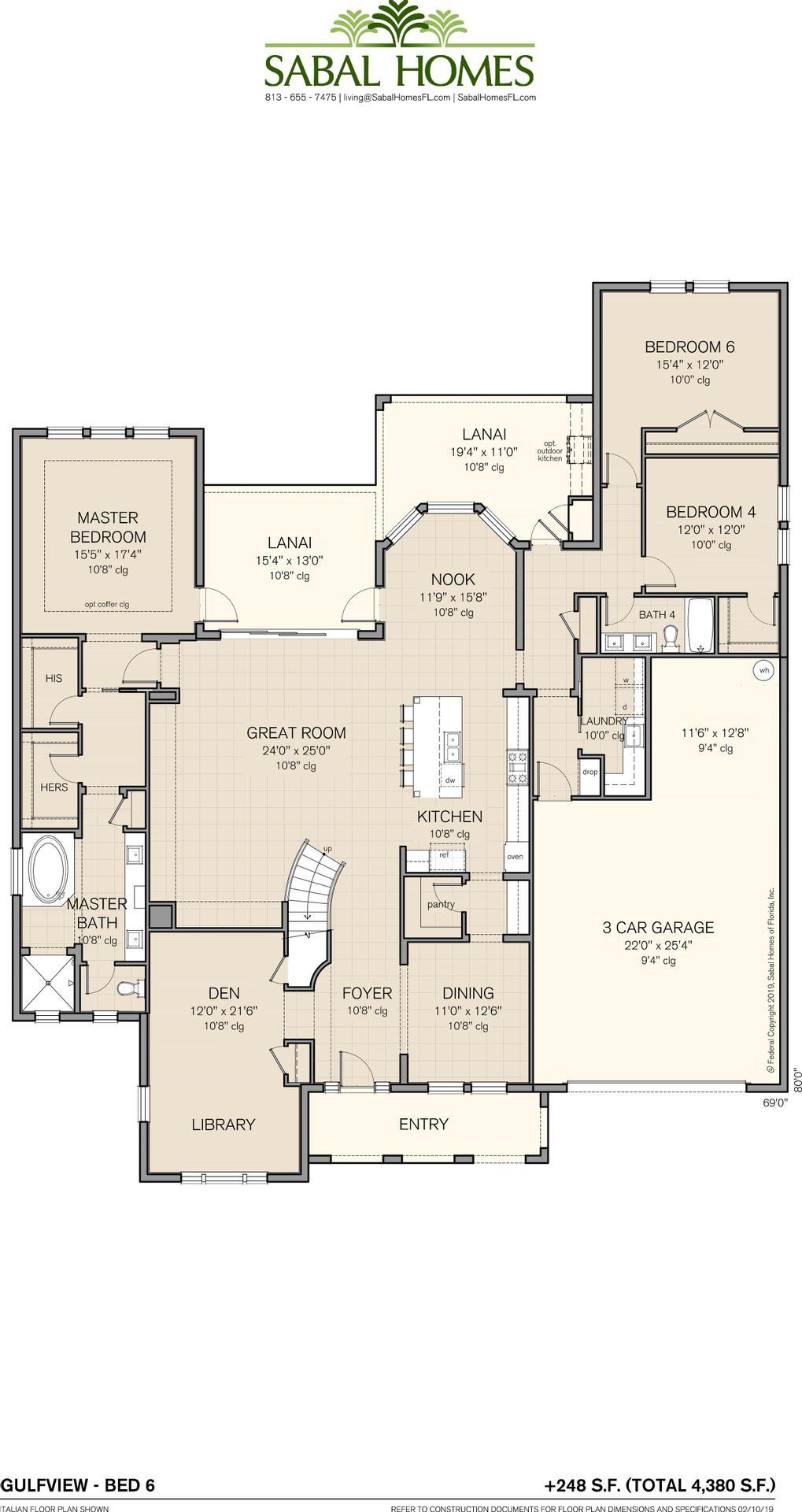 Gulfview 7 BR Plan