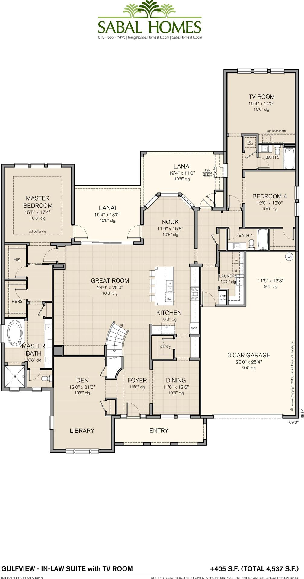 Gulfview In Law Suite Plan