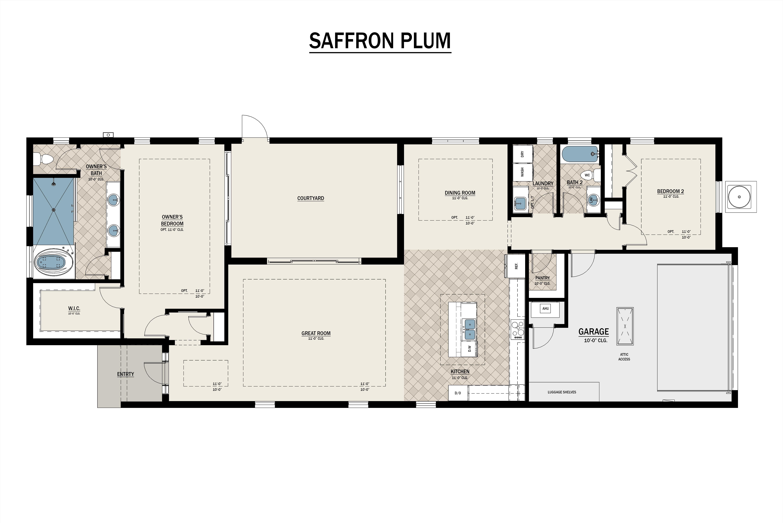 Saffron Plum